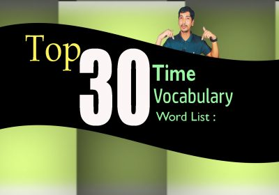 Top 30 Time Vocabulary Word List