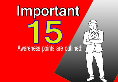 Important 15 Awareness points are outlined